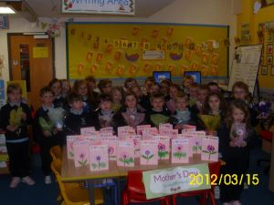'Happy Mother's Day' from Primary 2 Mrs Sloan
