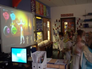 We had great fun dancing to 'Walk like an Egyptian'