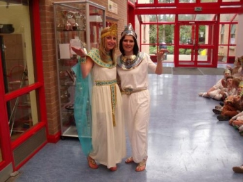 Even Mrs Peacocke and Mrs Williamson got into the Egyptian mood!